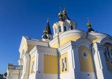 De heilige Kathedraal van de Transfiguratie Zhytomyr Zhitomir ukraine Royalty-vrije Stock Foto's