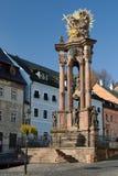 De heilige Kolom van de Plaag van de Drievuldigheid in Banska Stiavnica Royalty-vrije Stock Foto