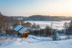 De heilige lente van St Leonty Mikhailovsky op een de winterdag, Janu Stock Afbeeldingen