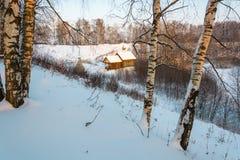 De heilige lente van St Leonty Mikhailovsky op een de winterdag, Janu Royalty-vrije Stock Afbeelding