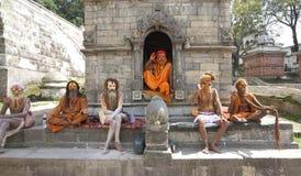 De Heilige Mensen van Katmandu Sadhu royalty-vrije stock afbeeldingen