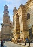 De heilige plaatsen in straat al-Muizz Stock Afbeelding