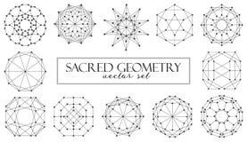 De heilige vector van meetkunde abstracte die elementen op witte achtergrond wordt geplaatst stock illustratie