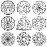 De heilige vector van Meetkundesymbolen - reeks 02 royalty-vrije illustratie