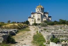 De Heilige Vladimir Cathedral Chersonesos Taurica Sevastopol Stock Foto's