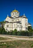 De Heilige Vladimir Cathedral Chersonesos Taurica Sevastopol Royalty-vrije Stock Fotografie