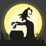 De heks brouwt een drankje vector illustratie