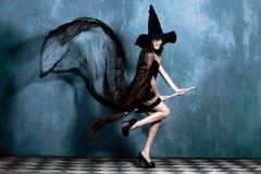 De heks van de tiener Stock Foto's