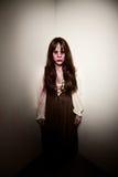 De heks van het dorp of vreemde zombie Royalty-vrije Stock Fotografie