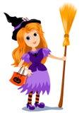 De heks van het meisje. Stock Afbeelding
