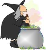 De heksen brouwen royalty-vrije illustratie