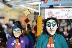 De heksen Carnaval Bazel 2013 van Waggis Stock Afbeeldingen