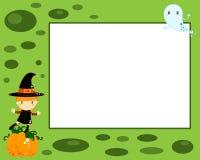 De heksenkaart van Halloween Stock Foto's