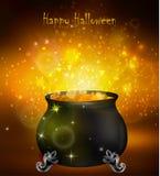 De heksenketel van Halloween royalty-vrije illustratie