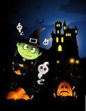 De heksenvector van Halloween Royalty-vrije Stock Foto