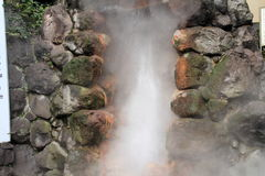 De hel van Tatsumakijigoku in Beppu, Oita Stock Fotografie