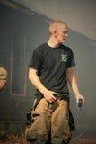 De held van de brandweerman Stock Afbeelding