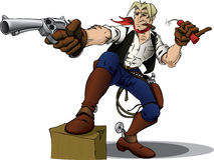 De held van de cowboy vector illustratie
