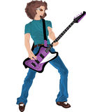 De Held van de gitaar Royalty-vrije Illustratie
