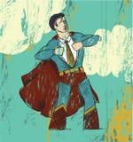 De Held van het bureau Stock Afbeeldingen