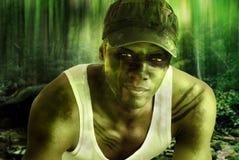 De held van het leger Stock Afbeeldingen