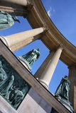 De helden regelen, Boedapest, Hongarije stock foto