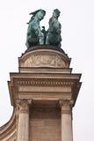 De helden regelen in Boedapest, Hongarije Royalty-vrije Stock Afbeeldingen