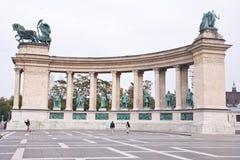 De helden regelen in Boedapest, Hongarije Stock Foto