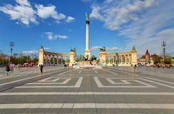 De helden regelen in Boedapest, Hongarije Stock Afbeelding