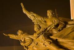 De Helden Zhongshan Shenyang China van het Standbeeld van Zedong van Mao royalty-vrije stock foto