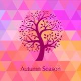 De Heldere achtergrond van de herfst Royalty-vrije Stock Afbeeldingen