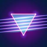 De heldere achtergrond van neonlijnen Royalty-vrije Stock Foto