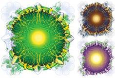 De Heldere cirkel Mandala van de aard op witte achtergrond Royalty-vrije Stock Foto's