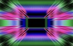 De heldere gekleurde achtergrond van strepen divergeert van het midden aan de randen Uniek ontwerp Stock Afbeelding
