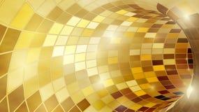 De heldere glanzende gouden tunnel van het poligonalmozaïek voor feestelijke vakantie Royalty-vrije Stock Foto