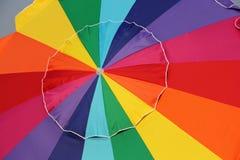 De heldere Grote Paraplu van Colorfl Royalty-vrije Stock Foto's