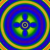 De heldere het fonkelen flits, neongloed, voert Kwaad oog uit vector illustratie