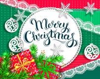 De heldere kaart van de Kerstmisgroet royalty-vrije stock foto's