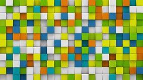 De heldere kleurrijke 3D kubussen geven terug royalty-vrije illustratie