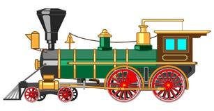 De heldere locomotief van de beeldverhaalstoom stock illustratie