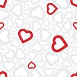 De heldere naadloze achtergrond van het liefde rode hart Royalty-vrije Stock Foto