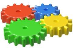 De heldere plastic bouw van speelgoedtandraderen Royalty-vrije Stock Fotografie