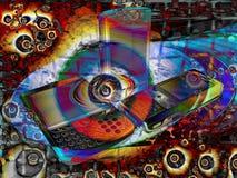 De heldere Psychedelische Mobiele Samenvatting van de Telefoon stock illustratie