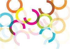 De heldere regenboog omcirkelt vectorachtergrond Grappig bellenconcept Royalty-vrije Stock Foto
