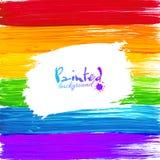 De heldere regenboogverf bespat vectorachtergrond Stock Foto's