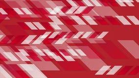 De heldere rode geometrische abstracte videoanimatie van technologie royalty-vrije illustratie