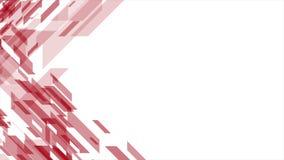 De heldere rode geometrische abstracte videoanimatie van technologie stock illustratie