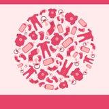 De heldere rode kaart van de babyaankondiging stock illustratie
