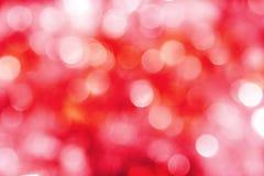 De heldere rode, roze & witte achtergrond van vakantielichten Stock Foto's