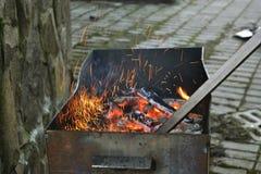 De heldere vlammen Royalty-vrije Stock Afbeeldingen